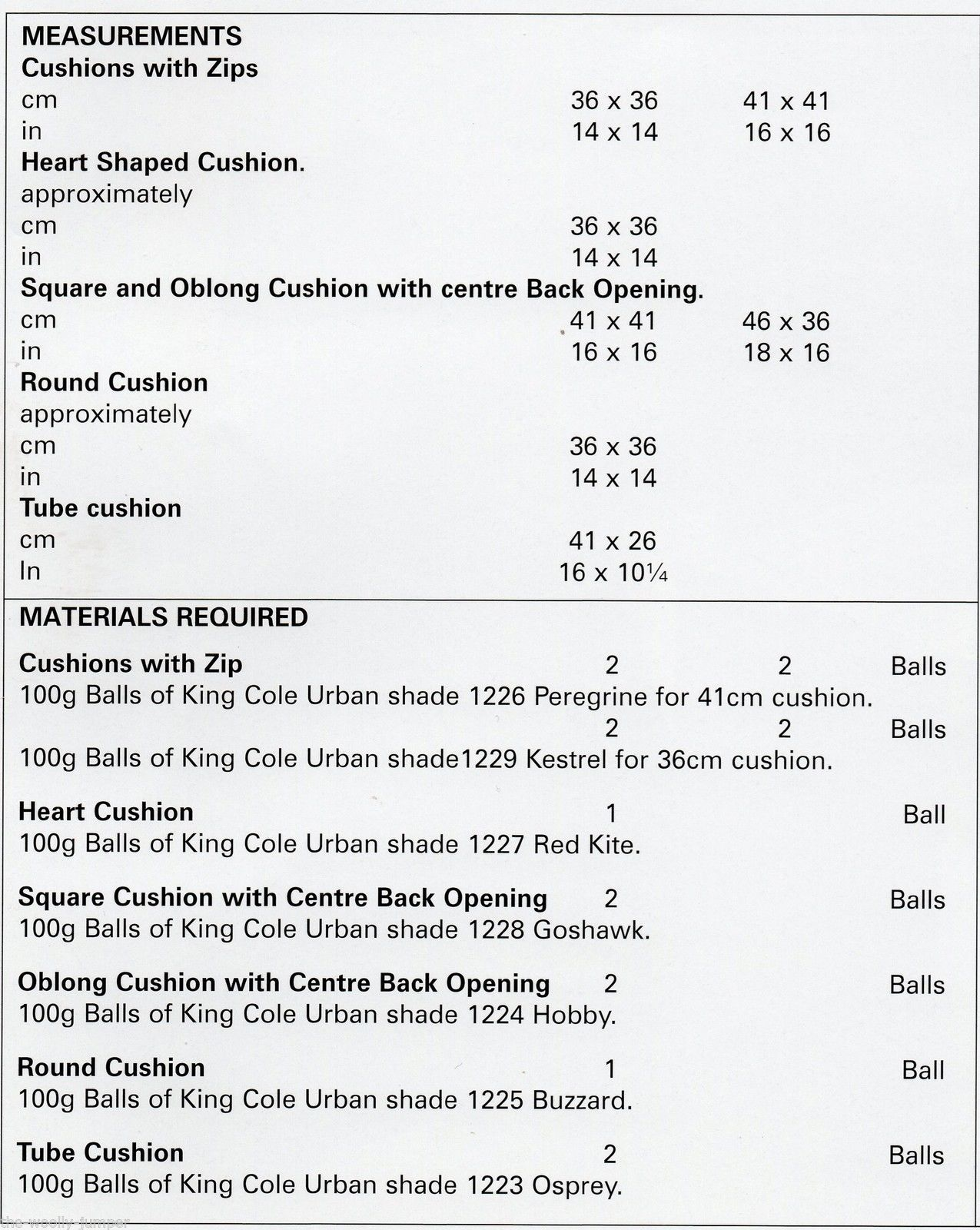 4334 - KING COLE URBAN ARAN EASY KNIT CUSHION KNITTING PATTERN ...